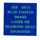 12X24 BLUE COATED 85/15 BRASS, .020
