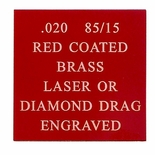 12X24 RED COATED 85/15 BRASS, .020