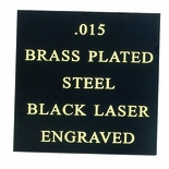 12X24 BLACK BRASS PLATE STEEL, .015