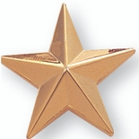 STAR PIN GOLD 1 INCH