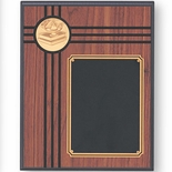 8 X 10 INCH GENUINE WALNUT PLAQUE WITH 2 INCH STAMPED INSERT