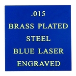 12X24 ROYAL BLUE BRASS PLATED STEEL, .015