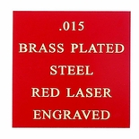 12X24 RED BRASS PLATED STEEL, .015