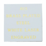 12X24 WHITE COATED BRASS PLATED STEEL, .015