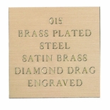 12X24 BRASS PLATED STEEL SATIN BRASS, .015