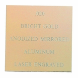 12X24 BRIGHT ANODIZED GOLD ALUMINUM, .020
