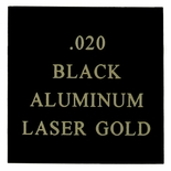 12X24 BLACK/GOLD ALUMINUM, .020
