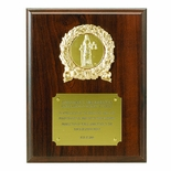 7 X 9 INCH OCCUPATIONAL PLAQUE, WALNUT FINISH, TAKES 2 INCH INSERT