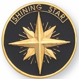 SHINING STAR PIN 1 INCH GOLD