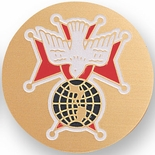 KNIGHTS OF COLUMBUS 4TH DEGREE, 7/8 INCH INSERT