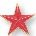RED STAR PIN 7/8 INCH