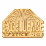 EXCELLENCE WORTHWHILE GOLD PIN