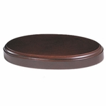 9.5 X 6 X 1 OVAL WOOD BASE