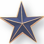 BLUE STAR PIN 7/8 INCH