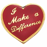 I MAKE DIFFERENCE HEART PIN