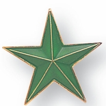 GREEN STAR PIN 7/8 INCH