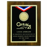 9 X 12 INCH OCCUPATIONAL PLAQUE, TAKES 2 INCH INSERT - MULTIPLE FINISHES