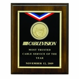 8 X 10 INCH OCCUPATIONAL PLAQUE, TAKES 2 INCH INSERT - MULTIPLE FINISHES