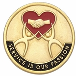 SERVICE IS OUR PASSION PIN