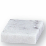 MARBLE PAPERWEIGHT 3 X 3 WHITE