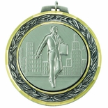2 3/4 INCH MEDAL FRAME, SALESMAN MEDALLION - MULTIPLE COLORS