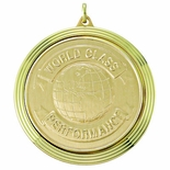 2 3/8 INCH MEDAL FRAME, WORLD CLASS PERFORMANCE MEDALLION