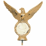 EAGLE PLASTIC RISER HOLDS 2 INCH MEDALLION, GOLD OR SILVER