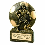 SOCCER FEMALE RESIN TROPHY