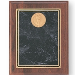 8X10 WALNUT FINISH  PLAQUE, BURGUNDY