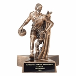BASKETBALL MALE RESIN TROPHY - NO PLATE