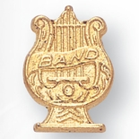 MUSIC BAND CHENILLE PIN GOLD