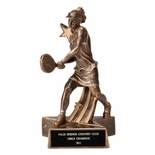 TENNIS FEMALE RESIN TROPHY - NO PLATE