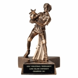 VOLLEYBALL FEMALE RESIN TROPHY - NO PLATE