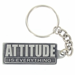 ATTITUDE IS EVERYTHING PEWTER KEY CHAIN