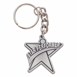 STAR PERFORMER PEWTER KEY CHAIN