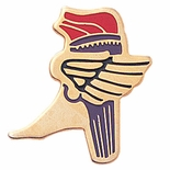 ATHLETE WINGED FOOT PIN ENAMEL