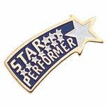 STAR PERFORMER ENAMELED PIN