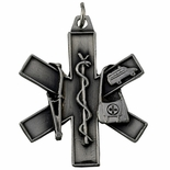E.M.T PEWTER KEY CHAIN