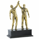 WRESTLER AND REFEREE FIGURE
