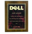 Award Plaques with Silkscreened Plates for Engraving