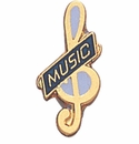 Music, Drama and Art lapel Pins
