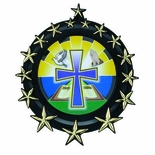 PLASTIC WREATH WITH STARS HOLDS 2 INCH INSERT