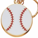 BASEBALL ENAMELED KEYRING, BAGGED