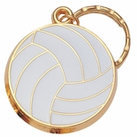 VOLLEYBALL ENAMELED KEYRING, BAGGED
