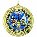 2-3/8 INCH MEDAL FRAME, DEPT. OF THE ARMY MEDALLION