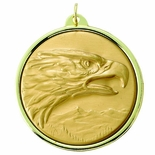 2-3/16 INCH MEDAL FRAME, EAGLE MEDALLION - MULTIPLE COLORS