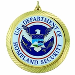 2-3/8 INCH MEDAL FRAME, U.S. DEPT. OF HOMELAND SECURITY MEDALLION