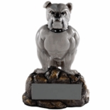 BULLDOG MASCOT TROPHY WITHOUT PLATE