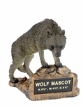 WOLF MASCOT TROPHY WITHOUT PLATE