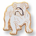 BULL DOG PIN ENAMELED